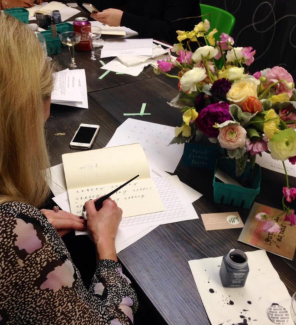 Houston Flower Workshop, Kristara Calligraphy