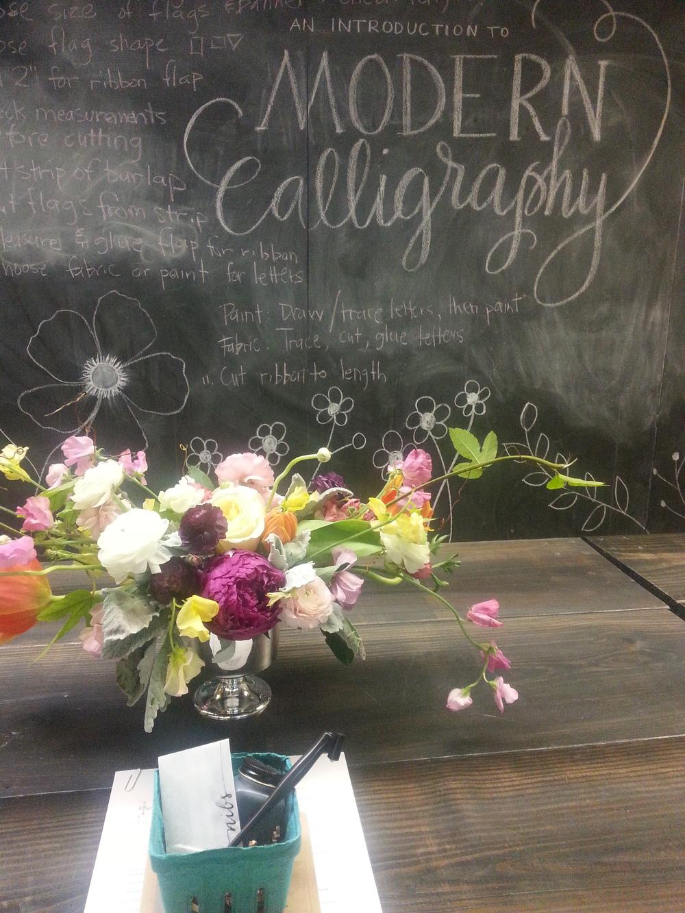 Houston Calligraphy Workshop, Kristara, Flowers