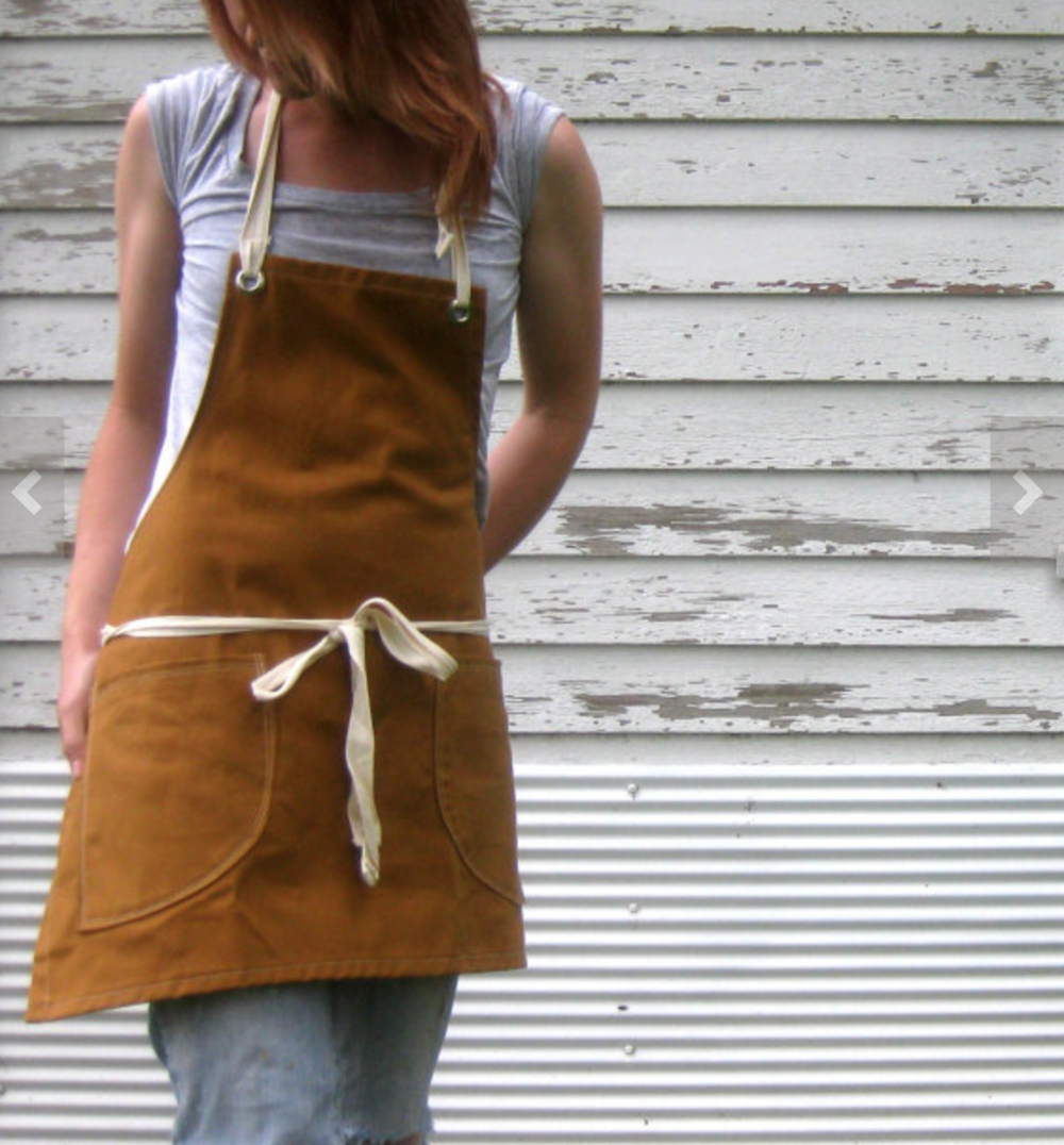 Canvas Apron- durable, easy to clean, particle and a must for any floral designer. Make it personal with a little monogram.