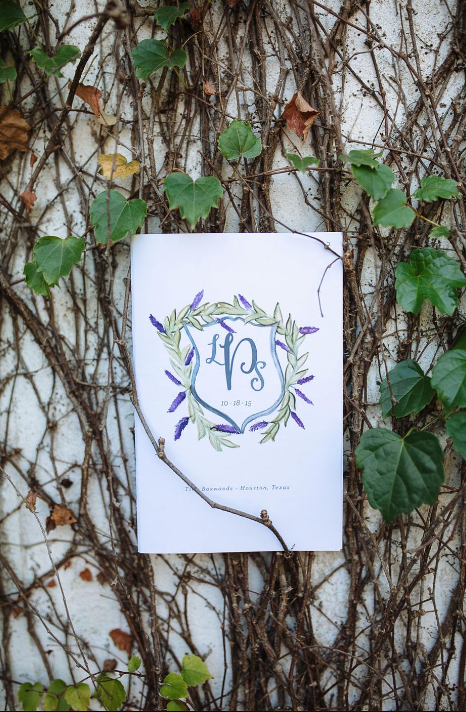 Hand Lettering- Ivy- Maxit Flower Design- Houston Weddings