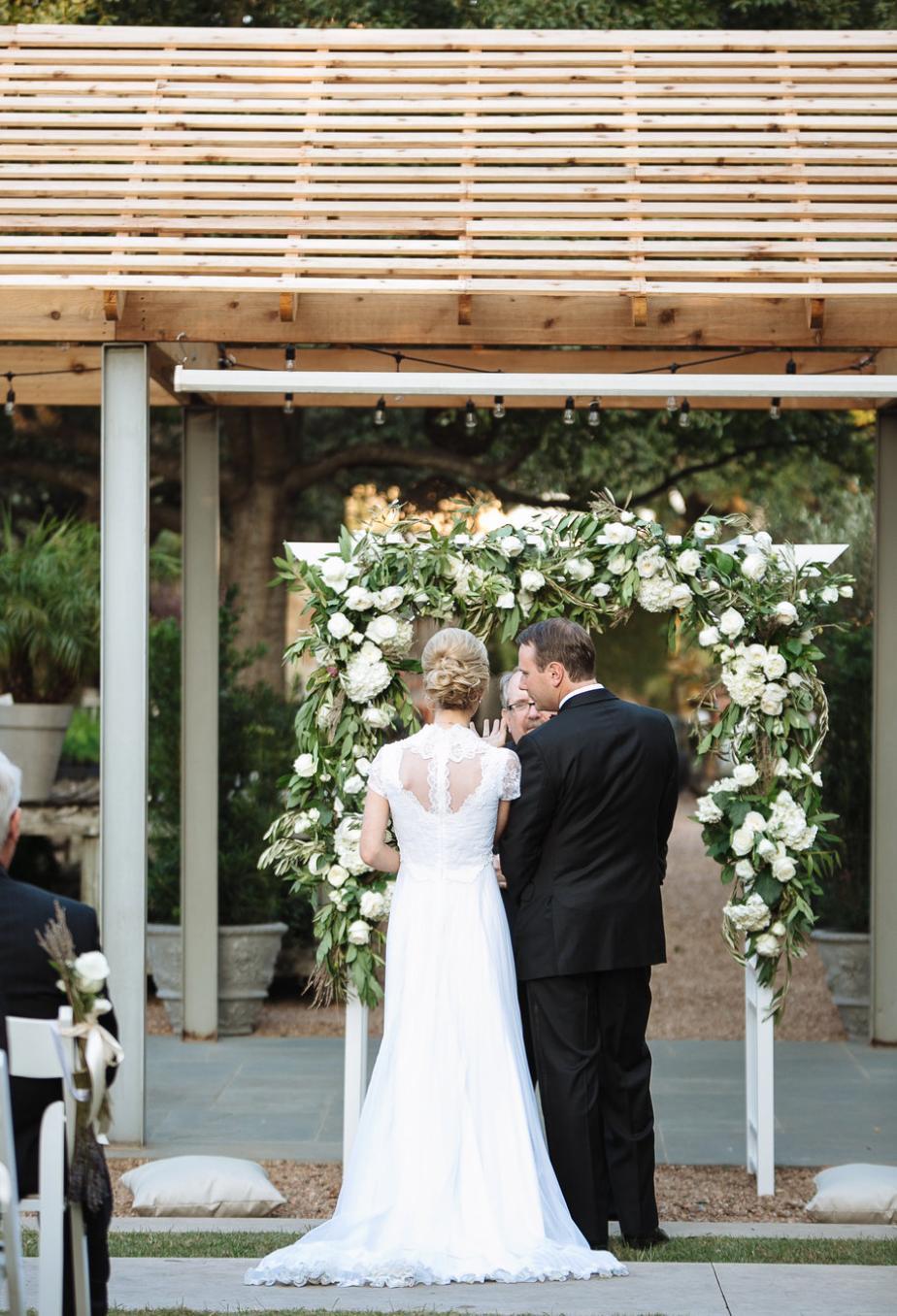 Aisle Photo- Houston Weddings- Maxit Flower Design Archway