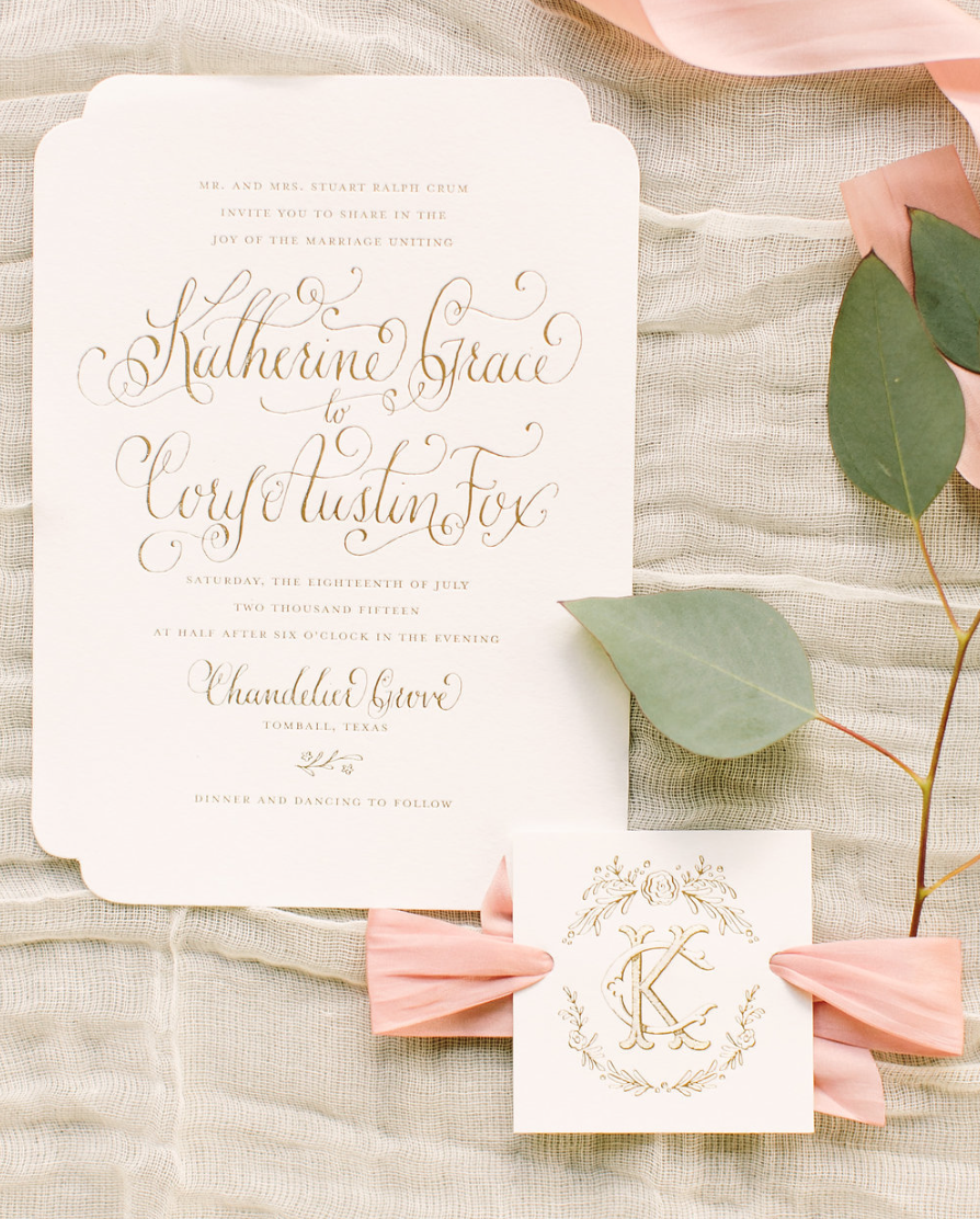 Hand Lettering- Houston Weddings- Maxit Flower Design