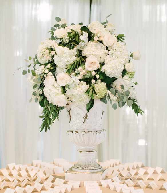 Urn Arrangement- Name Card Table- Maxit Flower Design- Houston Weddings