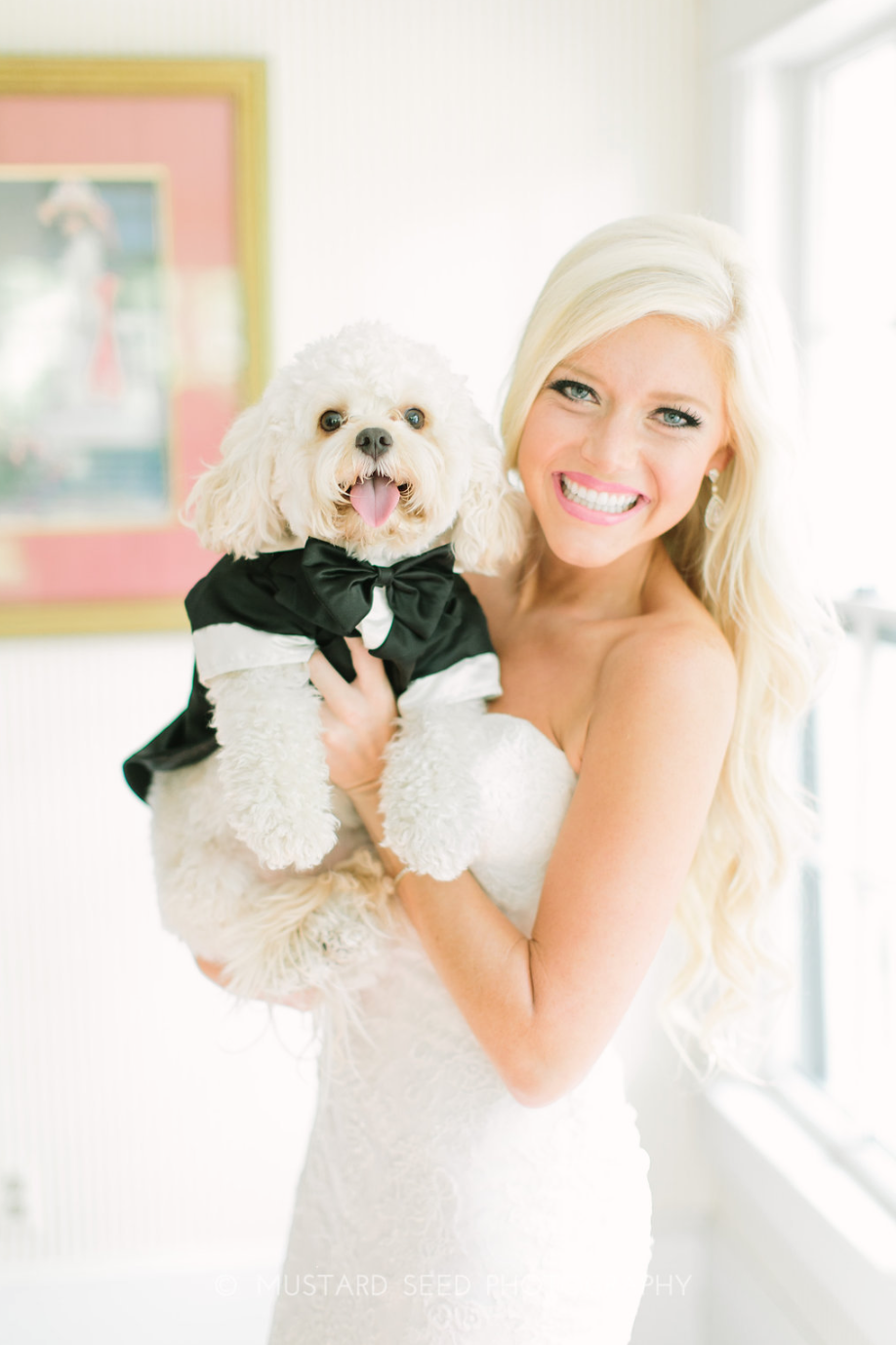 Bride & Dog- Houston Weddings- Maxit Flower Design