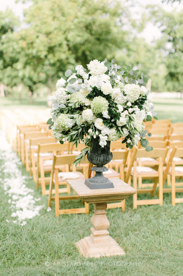 Aisle Arrangement- Maxit Flower Design- Houston Weddings