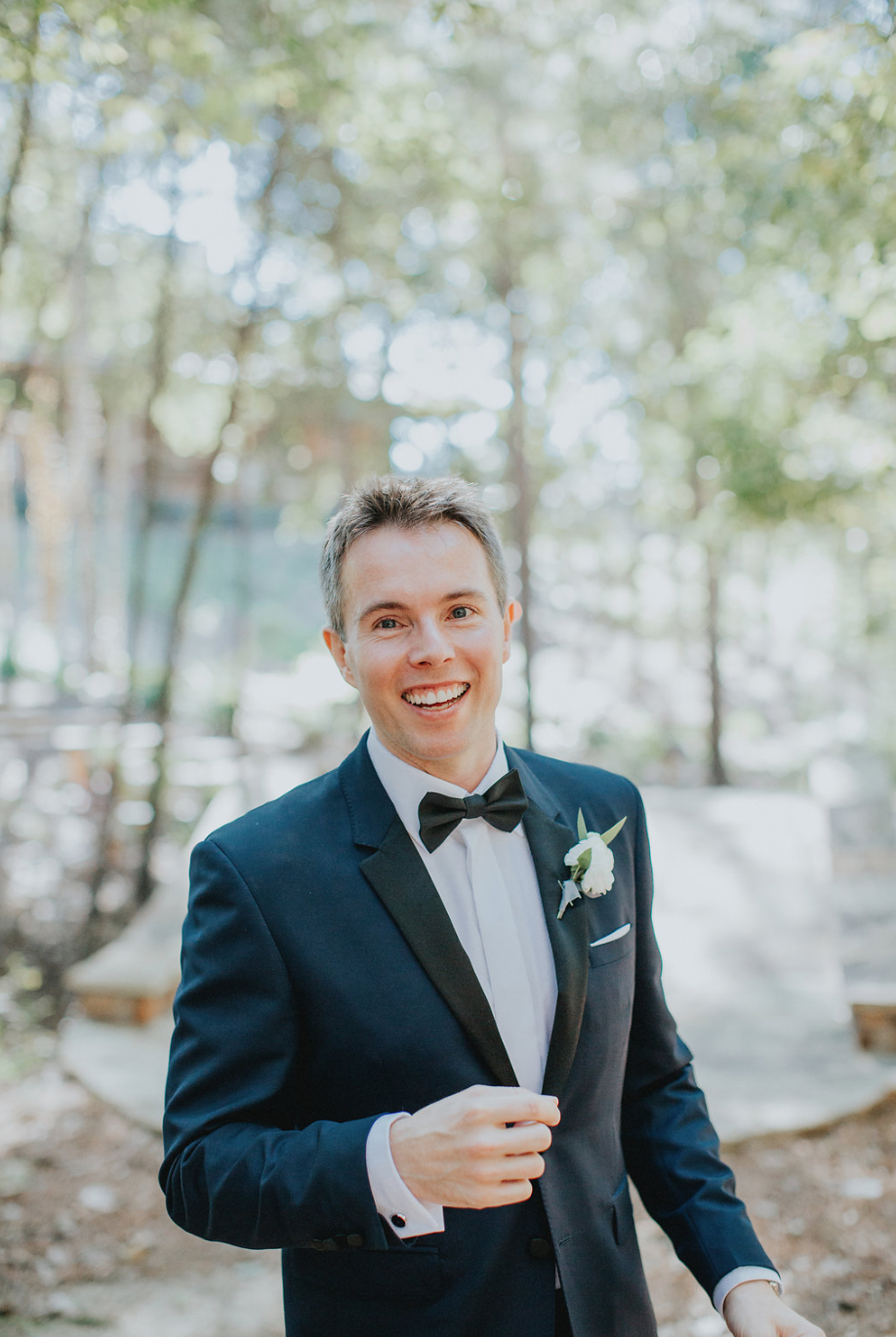 The happiest of grooms. Boutonniere by Maxit Flower Design
