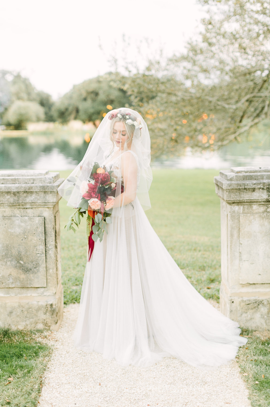 Blushing Bride at Houston Oaks Country Club- Bridal Bouquet and Floral Crown by Maxit Flower Design