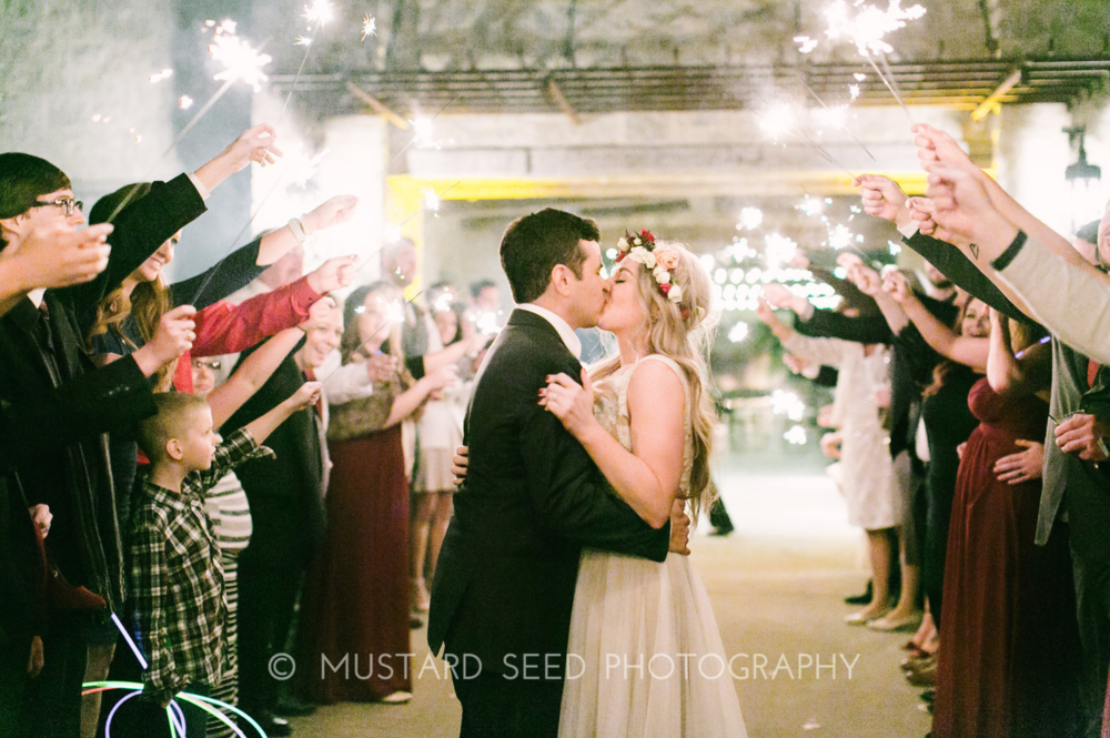 Send off with sparklers- flower crown by Maxit Flower Design by Houston, TX