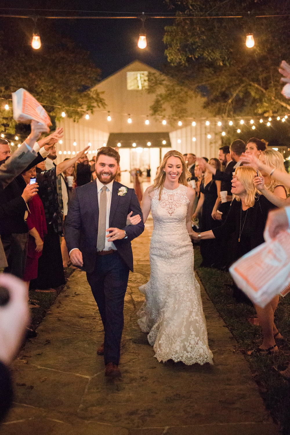 Sending off the newlyweds with cheers and Whataburger!