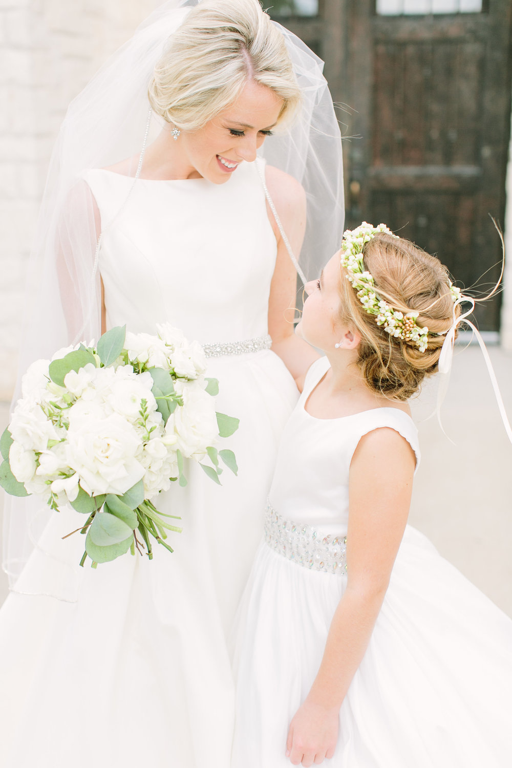 bride-flower-girl-white-greenery-bouquet-flower-crown-by-maxit-flower-design-in-houston-texas