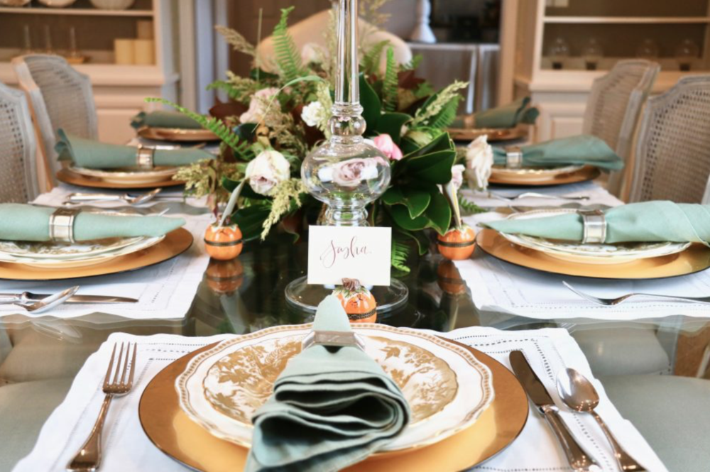 holiday-table-styling-cream-blush-fall-leaves-garden-centerpiece-floras-by-maxit-flower-design