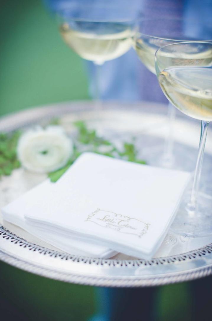 little-coterie-entertaning-party-decor-inspiration-cocktail-champagne-napkin-arrangement-by-maxit-flower-design