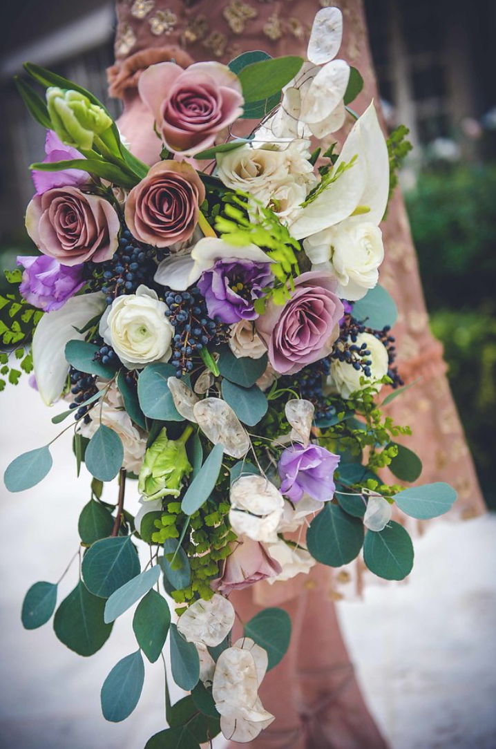 little-coterie-entertaning-party-decor-inspiration-lavender-purple-white-greenery-floral-bouquet-by-maxit-flower-design