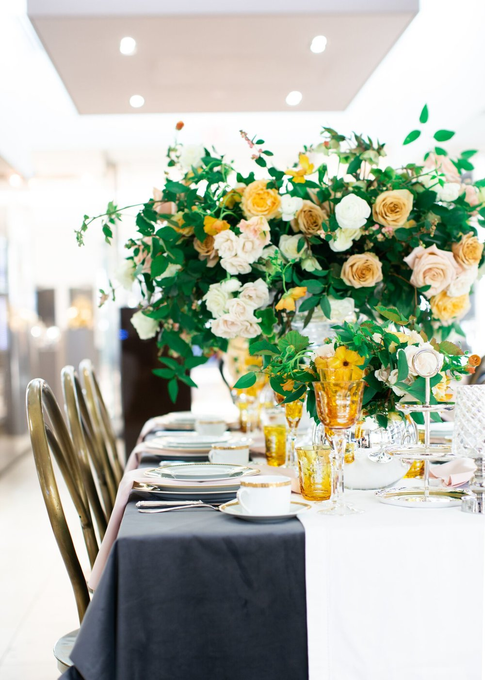 Christofle 2019 designed by Marie Flanigan Interior. In collaboration with Maxit Flower Design