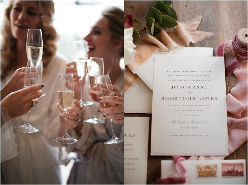 Invitation Suite, Wedding in Houston Oaks Country Club, Alyssa Meeks Event Planner, Silhouette Studios Photography