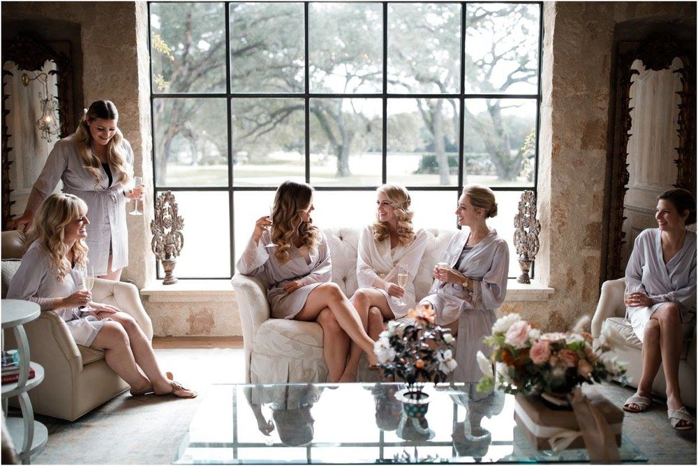 Bride and bridesmaids getting ready for the wedding. Bridal bouquet  at Houston Oaks Country Club, Alyssa Meeks Event Planner, Silhouette Studios Photography