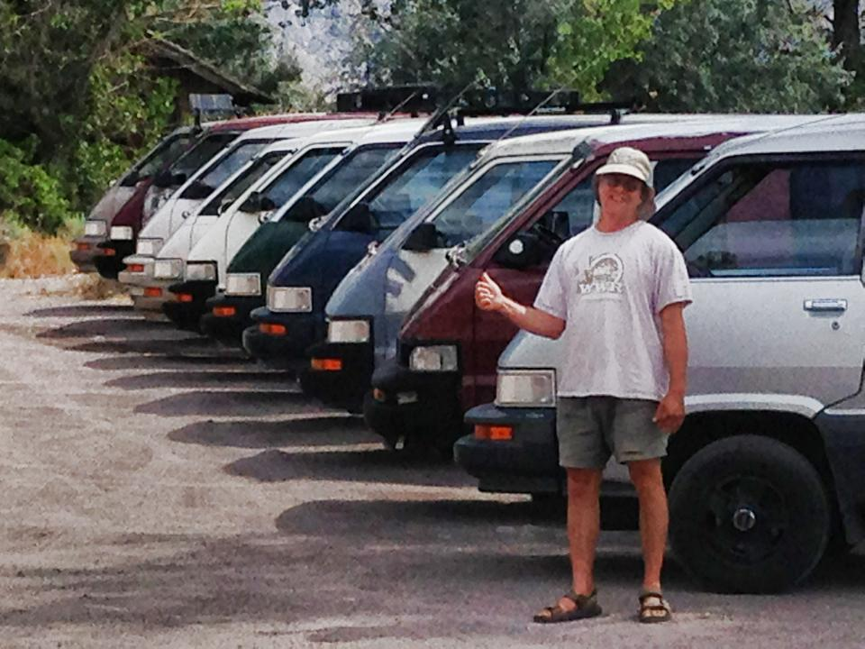 Mike with the Terravan fleet!