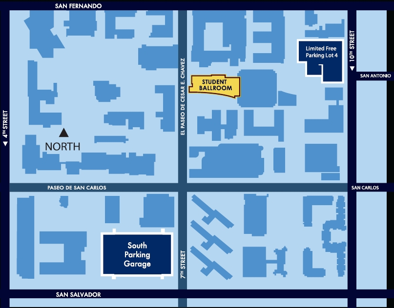 Parking can be found at the 10th Street or 7th Street garage as well as Lot 4 at 10th Street and San Antonio.