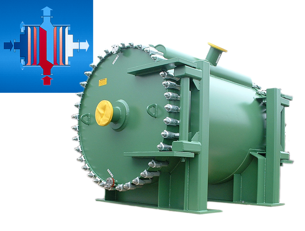 Type 1.1-H Spiral Heat Exchanger Stripping Column Feed Preheater, Duplex 2205
