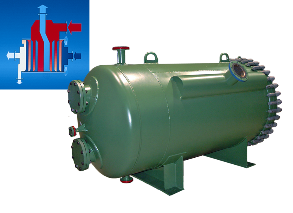 Type 3.1-H Spiral Heat Exchanger  Viscous Product Steam Heater, Carbon Steel