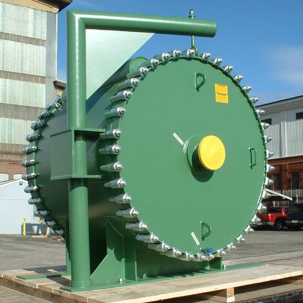 Spiral Heat Exchanger with Davits