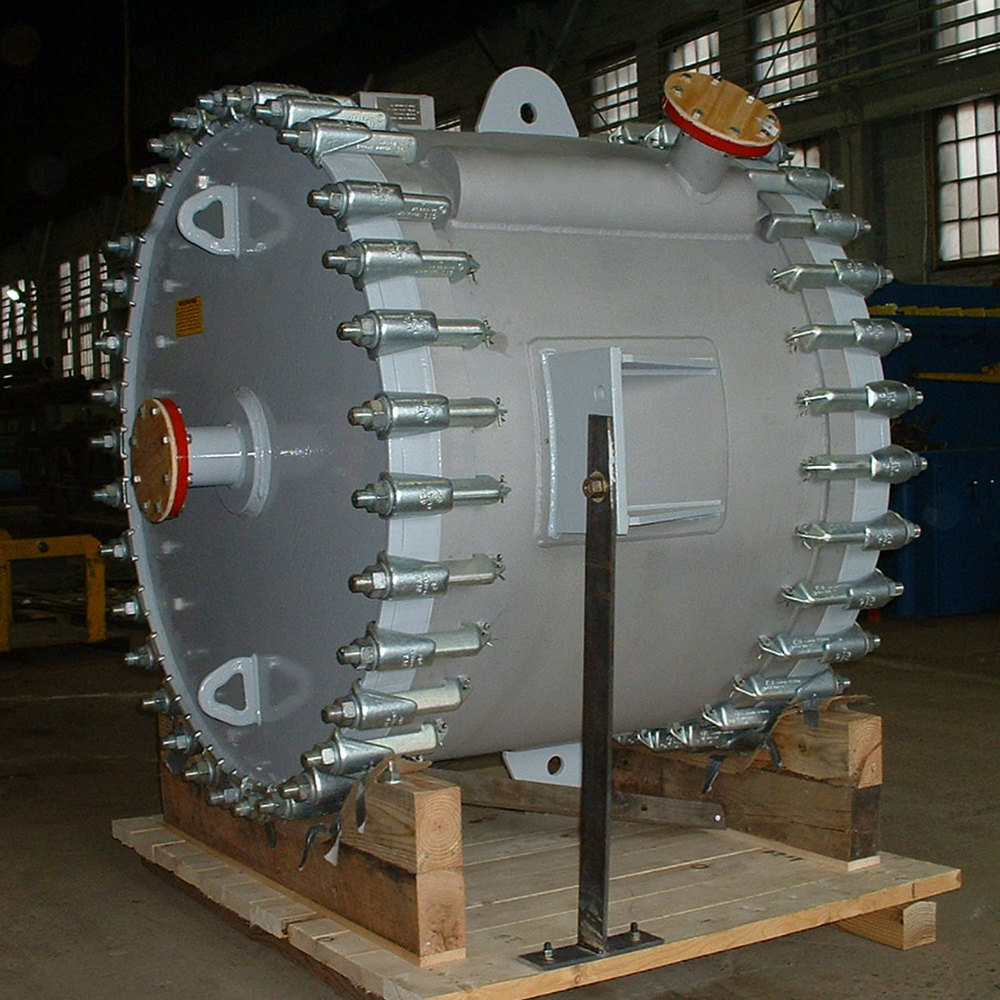 Spiral Heat Exchanger, Type 1.1-Vertical
