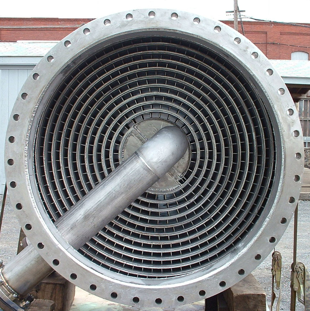 Spiral Heat Exchanger, Type 2-Vertical Overhead Condendenser