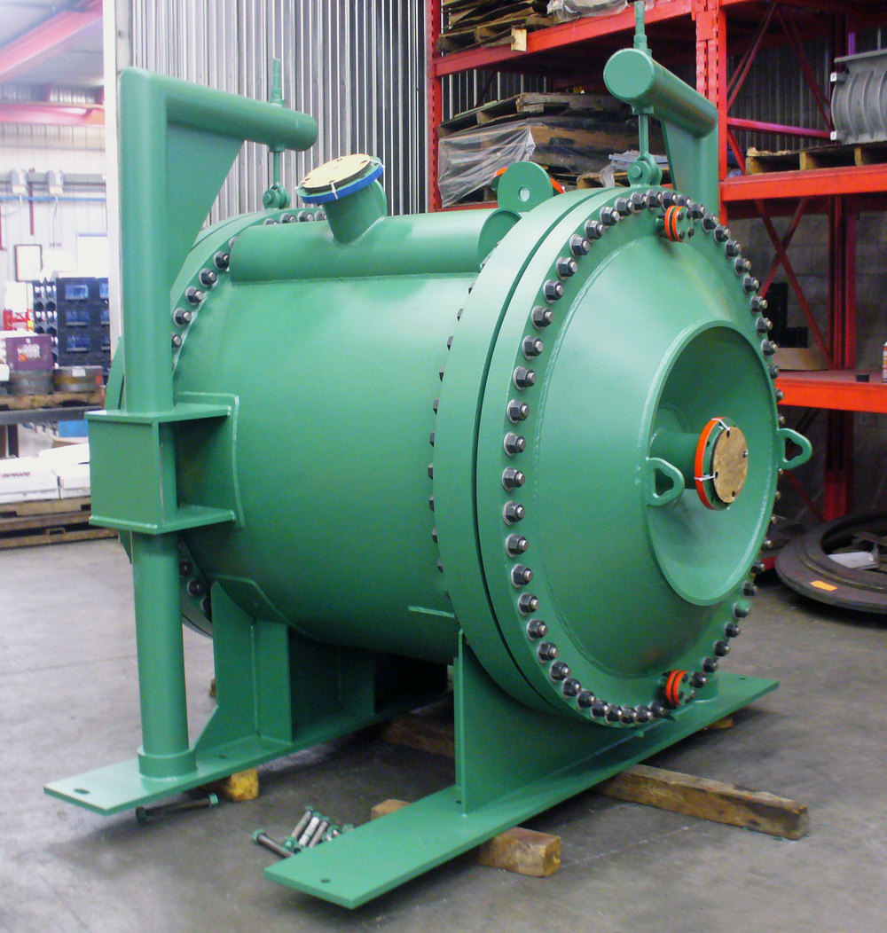 Slurry to Slurry Spiral Heat Exchanger, Duplex 2205