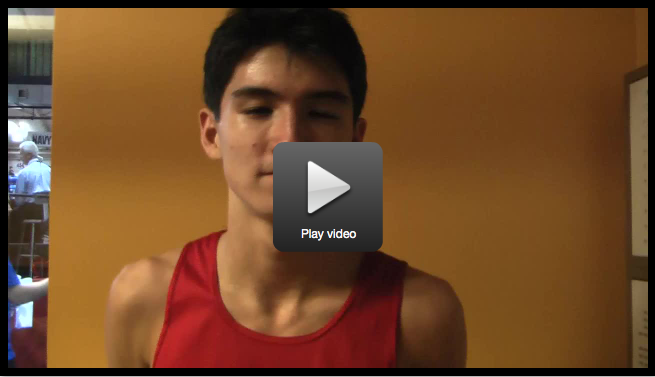 Watch Sean Kelly give a post-race interview after he qualified for the Millrose Games at the Millrose Trials.