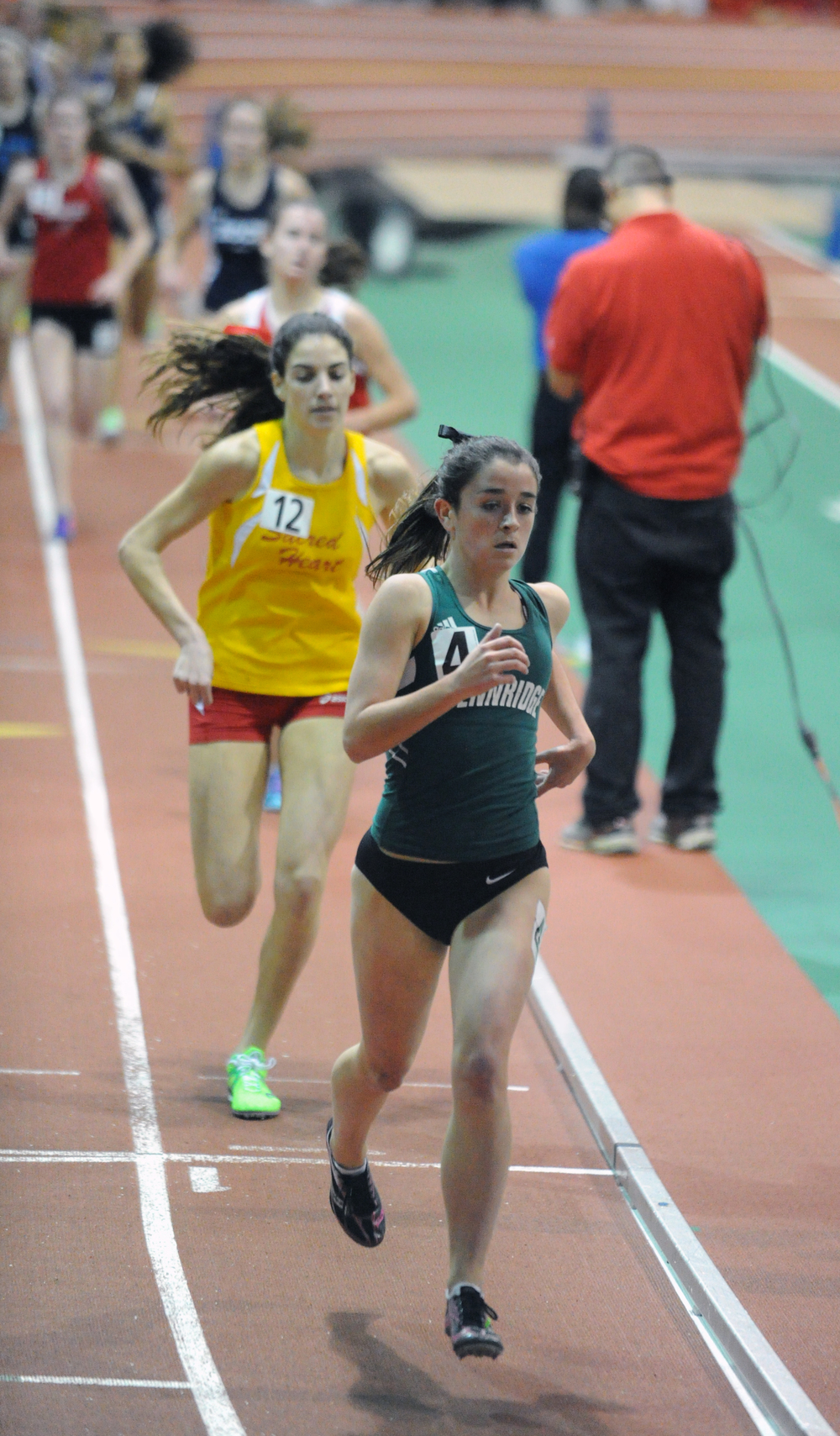 Marissa Sheva turns to another gear at the NYRR Millrose Games Trials, where she would place second in 4:56.94. Photo courtesy of Don Rich