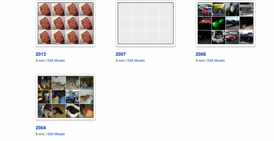 Flickr Collections by Year