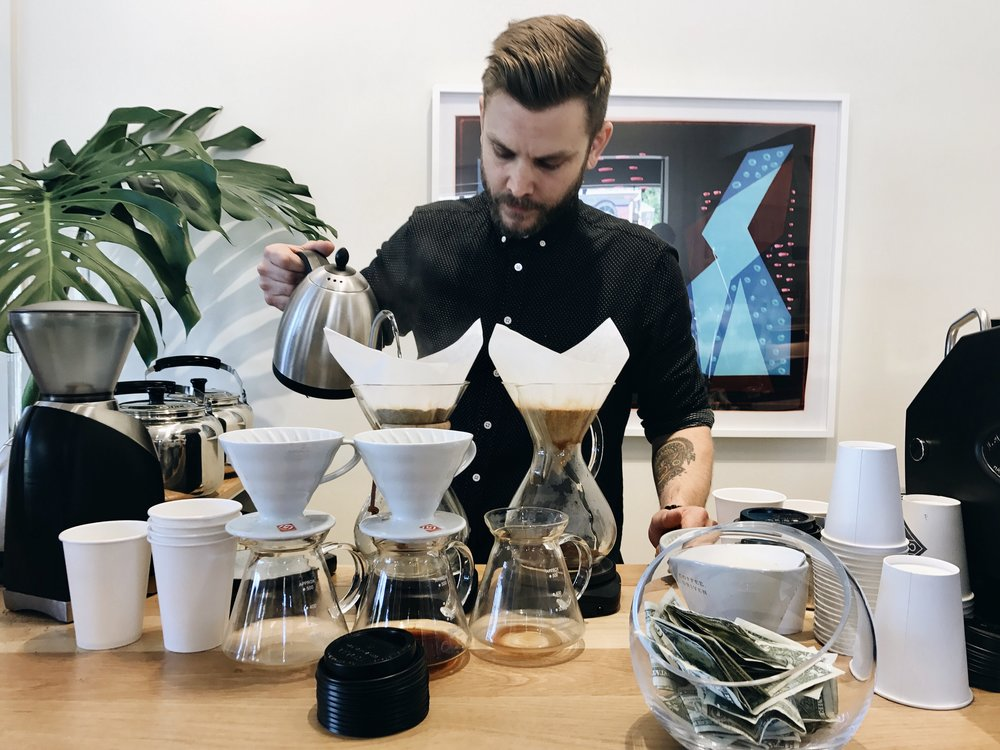 James, the Founder of Not Just Coffee