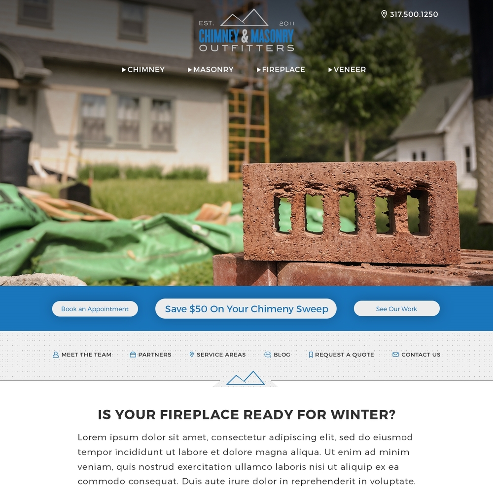 Chimney Masonry Outfitters Web Design