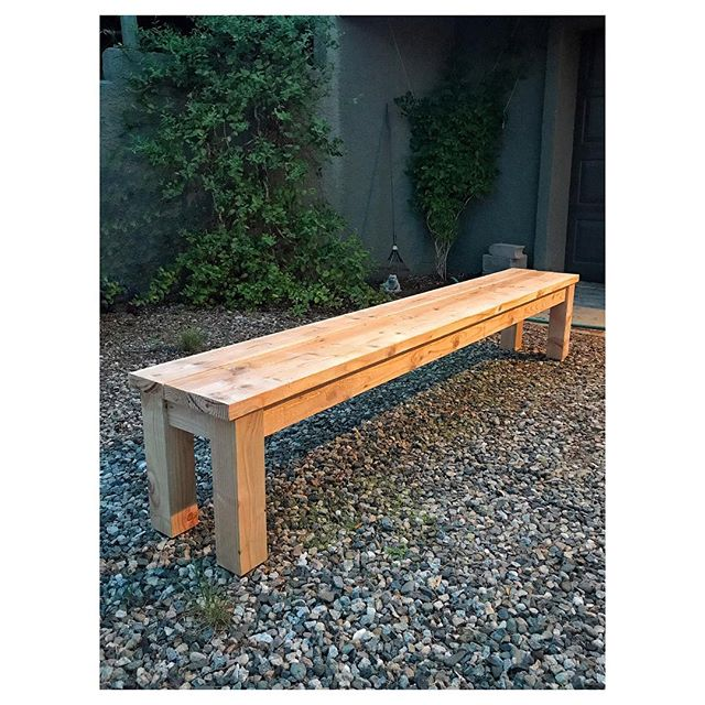 I find myself fluctuating between physical and creative endeavors.  I'm not great at balancing both.  I get engulfed by one at a time and am unaware of any pattern or reason.  It felt good to build today.  Think I might be entering another creative cycle.  Bench (1 / 10)