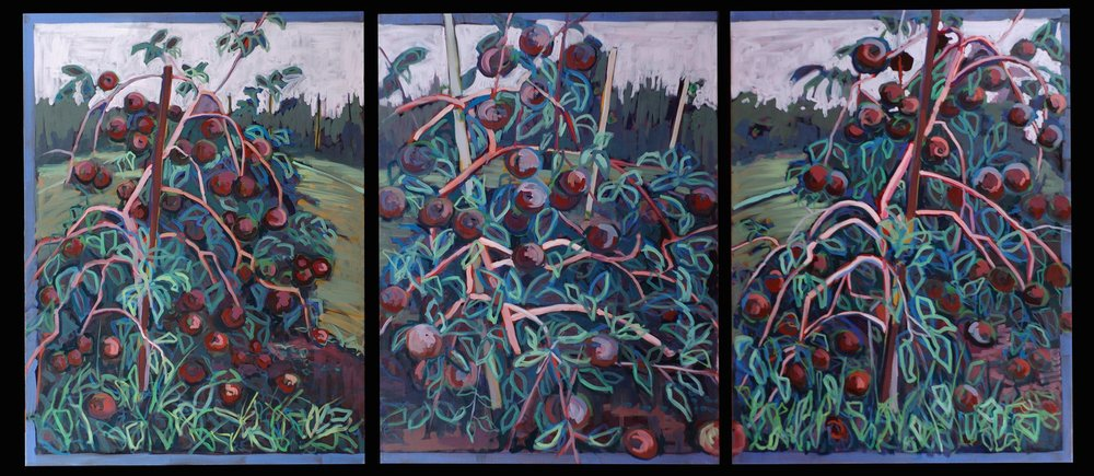 RED APPLE TRIPTYCH