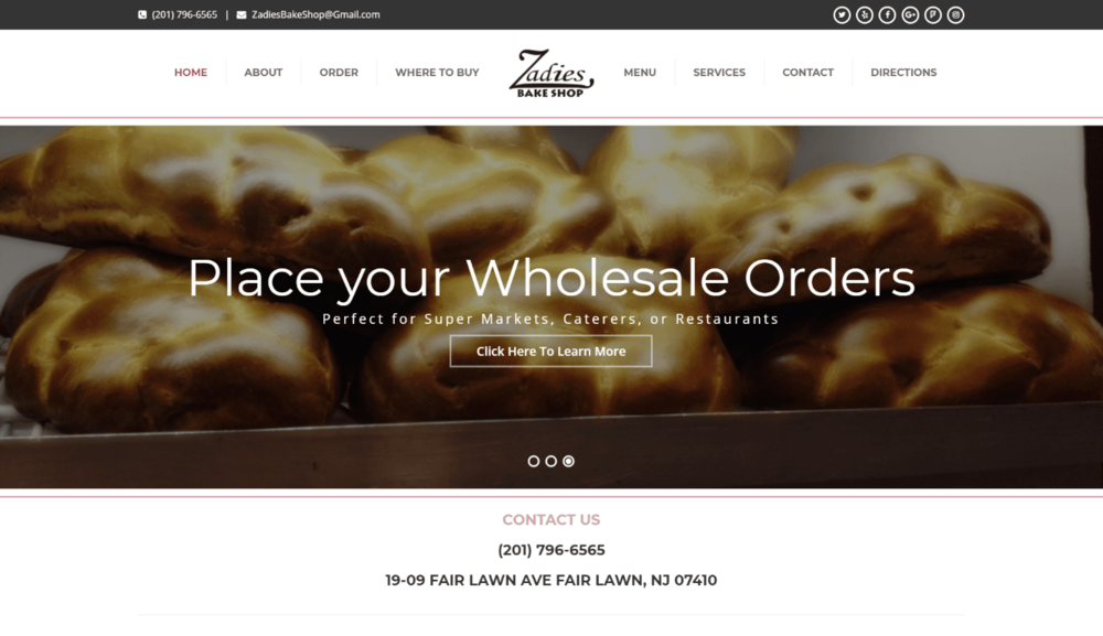 Bakery - Wordpress
