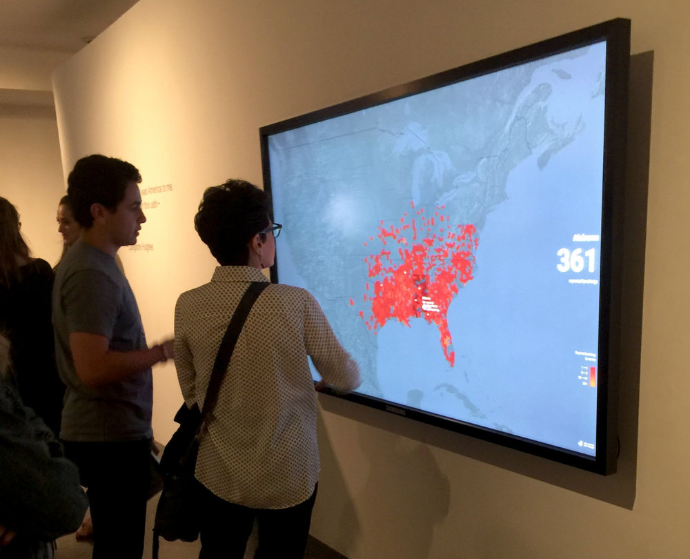 users could delve deeper into the data using a touch-screen display at the exhibit