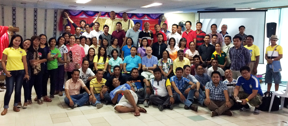 Seminar participants in the Philippines.