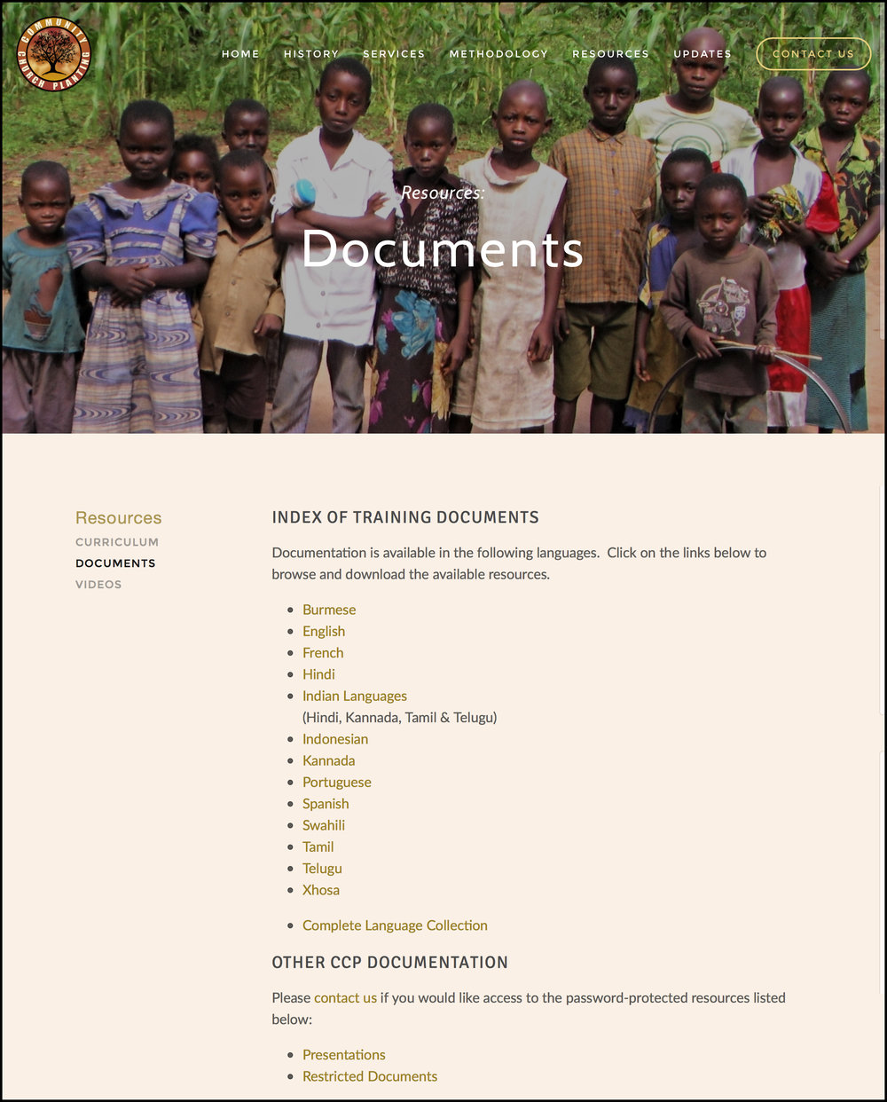 Resources > Documents page.