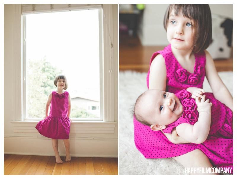 sisters newborn photo shoot seattle - the happy film company