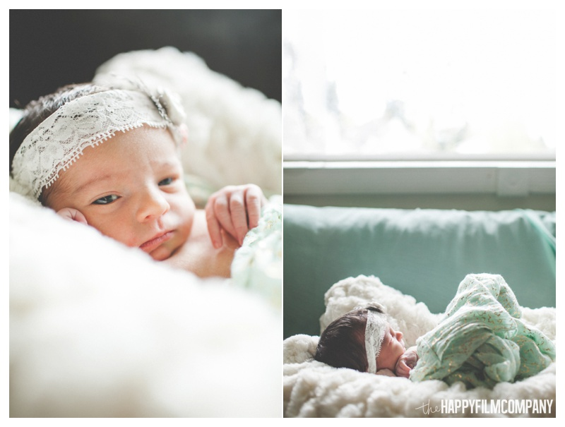seattle newborn photography with scarves - the Happy Film Company