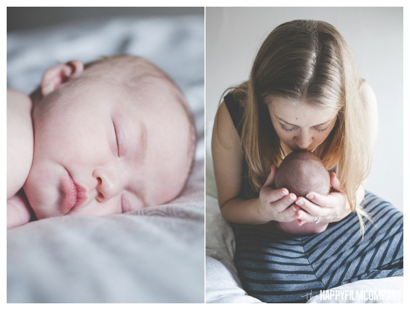 indoor newborn photos - the happy film company - seattle natural newborn photos