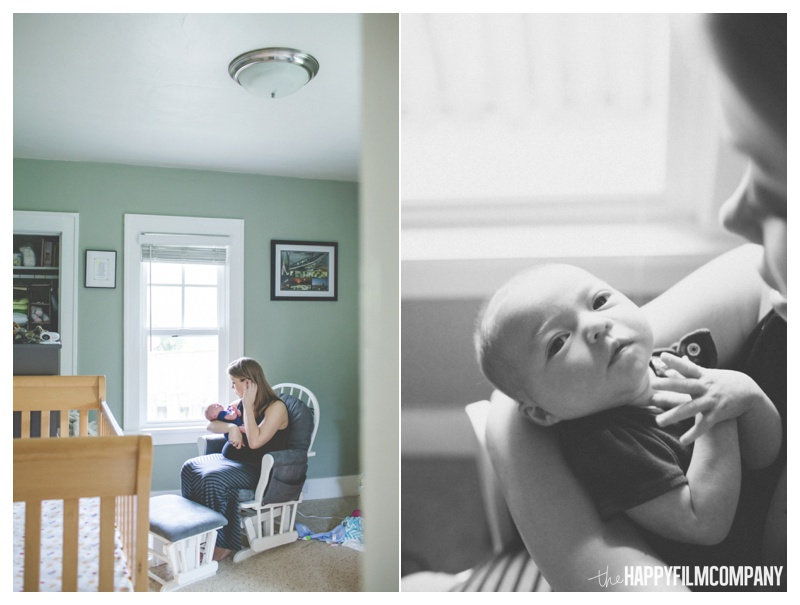 newborn photography at home - the happy film company - seattle natural newborn photos