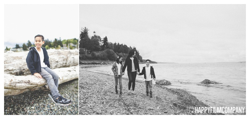 family photos on the beach  - the happy film company - seattle family photographer