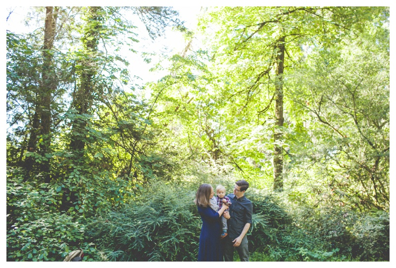 green forest family pictures   - the Happy Film Company - Seattle Family Photographer
