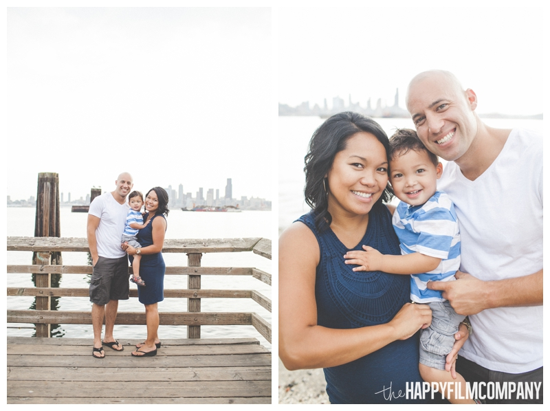 family photos on the dock - Alki Beach — Seattle Family Photos - the Happy Film Company