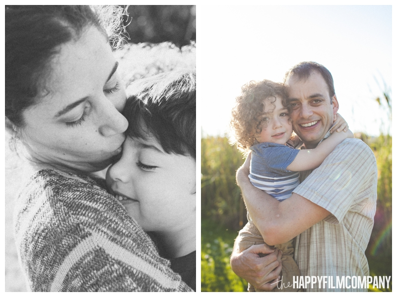 parents cuddling kids  - Seattle Family Apple Picking Photo Shoot - the Happy Film Company