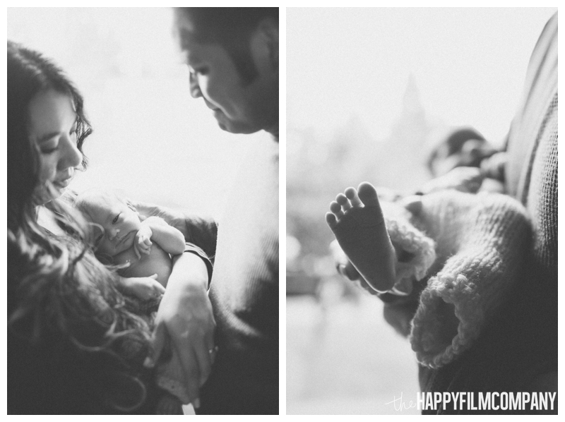 black and white baby feet portraits  - the Happy Film Company - Seattle Newborn Photos at Home