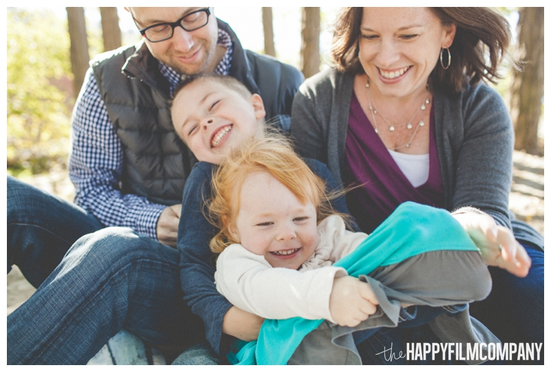 family tickling and laughing Seattle Family Photographer - Golden Gardens Beach Walk - the Happy Film Company