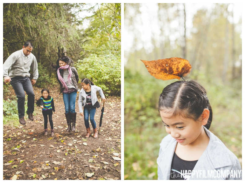 family jumping in leaves  — Seattle Family Photos - Black River Riparian Forest and Wetland - the Happy Film Company
